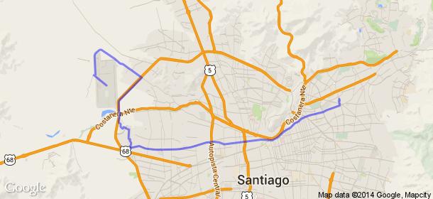 Distancia entre Manquehue, Santiago, Chile y Aeropuerto Internacional Arturo Merino Benítez, Santiago Centro, Chile